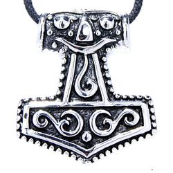 Kiss of Leather Kettenanhänger Thorshammer Thor Hammer Mjölnir Mjollnir Wikinger Anhänger aus Edelstahl