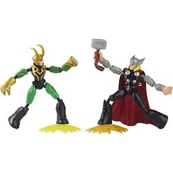 Marvel Avengers Bend and Flex Thor gegen Loki Action-Figuren, 15 cm bunt