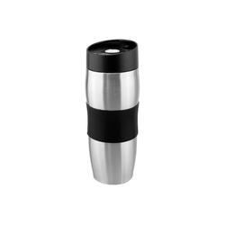 Wellgro Thermobecher Thermobecher 380 ml - Edelstahl - BPA-frei - Isolierbecher - Kaffeebecher, Thermosflasche, Farbe wählbar schwarz