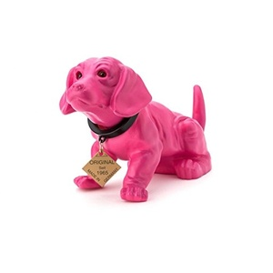 RAKSO Wackeldackel Lackiert Klein Pink 19 cm