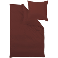 Curt Bauer Uni Mako-Satin rubin (155x220+80x80cm)