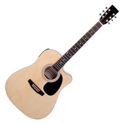 Classic Cantabile WS-10NAT-CE Westerngitarre natur mit Tonabnehmer