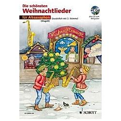 Die schönsten Weihnachtslieder  Notenausg. m. Audio-CDs: 15 Für Altsaxophon  m. Audio-CD - Buch