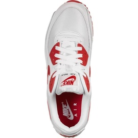Nike Men's Air Max 90 white/university red 44