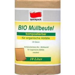 Papier-Müllbeutel, braun, ca. 10 l, Bio-Abfallbeutel, 20 x 17 x 36 cm, 1 Packung = 10 Stück