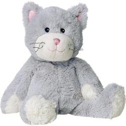 Wärme-Stofftier Katze grau