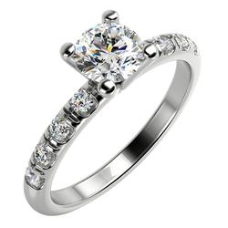 Solitär-Pave Diamant im Verlobungsring aus Gold Megha