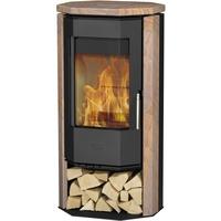 Fireplace Phönizia Stahl schwarz/Sandstein