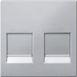 Merten Abdeckung Netzwerkdose Aluminium MEG4562-0460