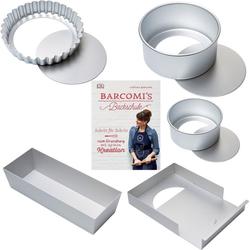 Cynthia Barcomi Backform Klassiker, (Set 5-tlg), inkl. Backbuch Barcomis Backschule