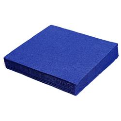 Servietten 24 x 24 cm 1/4 -Falz, 2-lagig dunkelblau, 250 Stk.