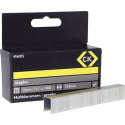 C.K. Tackerklammern 1000 St. 496005 Klammern-Typ 140 Abmessungen (L x B) 14mm x 10.5mm