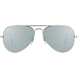 Ray Ban Aviator Flash Lenses RB3025 58mm polished silver / silver flash