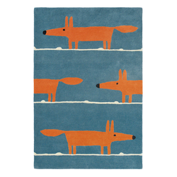 Teppich Mr Fox - Denim