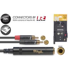 N-Serie Y-Adapter Kabel -Stereo Phono Stecker/ 2x