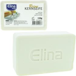 ELINA reine Kernseife med, 150g, Seifenstück mit angenehmem Duft, 1 Stück
