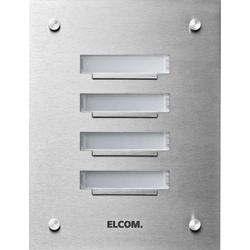 Elcom UP-Klingelplatte 7Taster,1-reihig, Ed KVM-7/1
