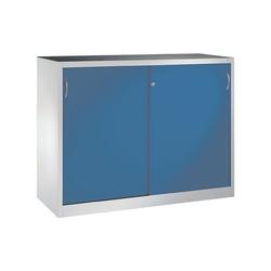 CP Schiebetürenschrank Mehrzweckschrank, komplett montiert blau 160 cm x 120 cm x 60 cm