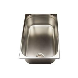 Airbrush-City Einbauwaschbecken Waschbecken Edelstahl 1/1 x 150mm tief GN Pan Basin mit Spülventil
