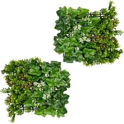 Künstliche Zimmerpflanze Blättermatte Buchsbaum-Efeumix, Creativ green, Höhe 33 cm, 2er Set