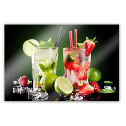 Wall-Art Küchenrückwand 3D Spritzschutz Cocktail Hour, (1-tlg) 80 cm x 60 cm x 0,4 cm