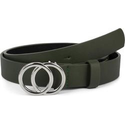 styleBREAKER Synthetikgürtel Gürtel mit Ringschnalle Gürtel mit Ringschnalle grün 80cm