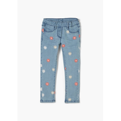 s.Oliver 5-Pocket-Jeans Slim Fit: Jeans mit Blumen-Stickerei Waschung, Stickerei 104.REG