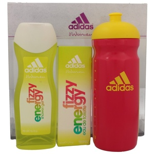 Adidas Fizzy Energy for Women Edt 50 ml + Shower Gel 250 ml + Trinkflasche Set
