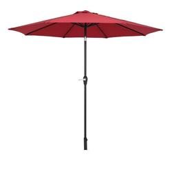FCH Sonnenschirm, Φ 270cm Sonnenschirm, Kippbarer Gartenschirm, Marktschirm mit Handkurbel, UV-Schutz Terrassenschirm