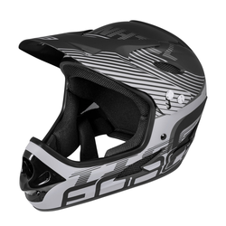 FORCE Fahrradhelm Downhill Tiger Helm schwarz L - XL