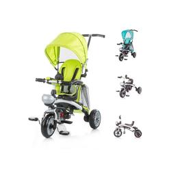 Chipolino Dreirad Tricycle Maverick, Dreirad 5 in 1, Laufrad, Sitz drehbar, EVA-Reifen grün
