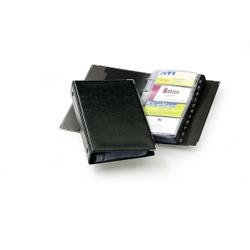 DURABLE Visifix® Visitenkartenalbum für 200 Visitenkarten, Kartenbuch mit 4-Ringmechanismus zum Aufbewahren von Visitenkarten, Maße: 145 x 255 mm, schwarz