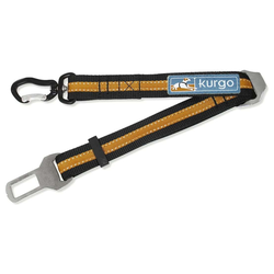 Kurgo Verbindungsstück Direct to Seatbelt Swivel Tether orange