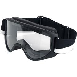 Biltwell Moto 2.0, Crossbrille - Schwarz/Weiß Klar