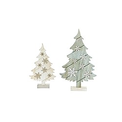 LED-Tannenbaum-Set  2-tlg.