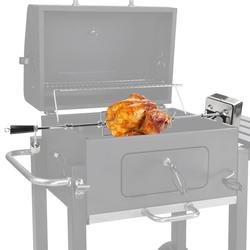 Universal Edelstahl Aufsatz Grillspieß 230V Motor L100cm bis 4 kg Gasgrill Grill