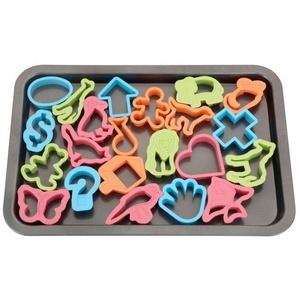 Backblech & 22 Ausstechformen Plätzchenform Keks Ausstecher Tiere u. Figuren NEU