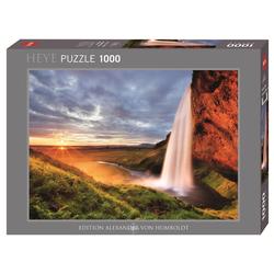 HEYE Puzzle HEYE 29769 Edition Humboldt Seljalandsfoss Waterfall 1000 Teile Puzzle, 1000 Puzzleteile braun