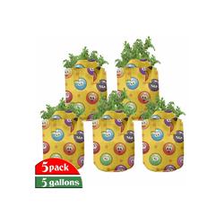 Abakuhaus Pflanzkübel hochleistungsfähig Stofftöpfe mit Griffen für Pflanzen, emoji Grumpy Sad Mood Gesicht Mood 28 cm x 28 cm