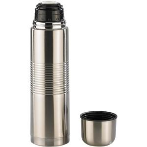 Edelstahl-Isolierflasche mit Becher im Deckel 1,0 l