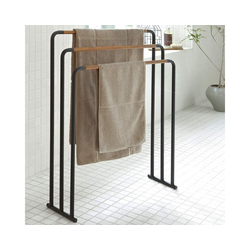 Yamazaki Handtuchständer Plain, Handtuchhalter, freistehend schwarz