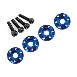 Traxxas TRX7668 Alu-Radmuttern blau (4) 3x12 CS Teton Tuning