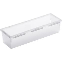Rotho BASIC Schubladen-Ordnungssystem, transparent, Schubladen-Ordnungssystem aus Kunststoff , Maße: 230 x 80 x 50 mm