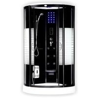 Home Deluxe Black Pearl Komplettduschkabine 100 x 100 cm (BP-100-DT)