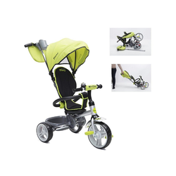 Moni Dreirad Tricycle Flexy 3 in 1, Dreirad, Lenkstange, Sonnendach, Korb, klappbar
