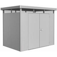2,75 x 1,95 m silber-metallic Doppeltür