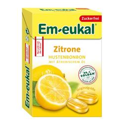 EM EUKAL Bonbons Zitrone zuckerfrei Box 50 g