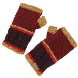 Guru-Shop Armstulpen Handstulpen, gestrickte Wollstulpen aus Nepal -.. rot