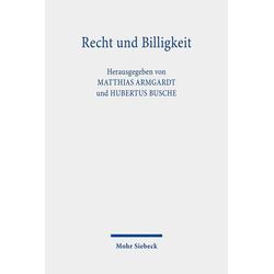 Recht und Billigkeit: Buch von