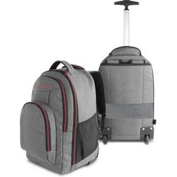 normani Daypack Rucksack mit Trolleyfunktion 30 Liter Yori, Trolley-Rucksack mit Rollen rot